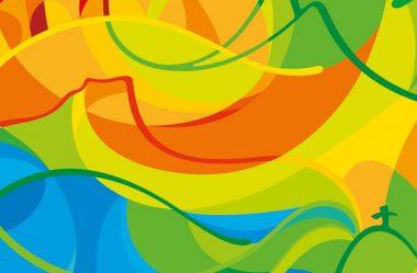 Cores vibrantes e movimento marcam a logo dos Jogos Olímpicos de 2016